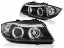 Комплект тунинг фарове с CCFL ангелски очи за BMW 3 E90/E91 03.2005-08.2008 , ляв и десен