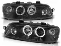 Комплект тунинг фарове с халогенни ангелски очи за Fiat PUNTO 2 10.1999-06.2003, ляв и десен