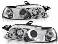 Комплект тунинг фарове с халогенни ангелски очи за Fiat PUNTO 1 11.1993-09.1999, ляв и десен