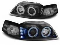 Комплект тунинг фарове с халогенни ангелски очи за Ford MUSTANG 1998-2004 , ляв и десен