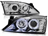 Комплект тунинг фарове с халогенни ангелски очи за Ford MONDEO 09.2000-05.2007 , ляв и десен