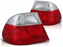 Комплект тунинг стопове за BMW E46 04.1999-03.2003 купе с червена и бяла основа , ляв и десен