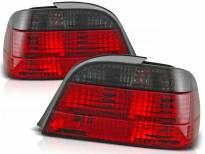 Комплект тунинг стопове за BMW E38 06.1994-07.2001 с червена и опушена основа , ляв и десен