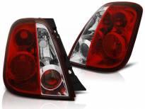Комплект тунинг стопове за Fiat 500 2007 - с червена и бяла основа , ляв и десен