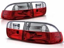 Комплект тунинг стопове за Honda CIVIC 09.1991-08.1995 седан/купе с червена и бяла основа , ляв и десен