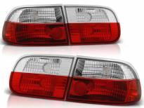 Комплект тунинг стопове за Honda CIVIC 0 9.1991-08.1995 3 врати с червена и бяла основа , ляв и десен