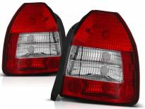 Комплект тунинг стопове за Honda CIVIC 09.1995-02.2001 3 врати с червена и бяла основа , ляв и десен