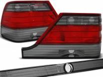Комплект тунинг стопове за Mercedes W140 1995-10.1998 с червена и опушена основа , ляв и десен