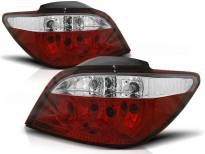 Комплект тунинг стопове за Peugeot 307 04.2001-2007 3/5 врати с червена и бяла основа , ляв и десен