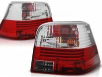 Комплект тунинг стопове за Volkswagen GOLF 4 09.1997-09.2003 хечбек с червена и бяла основа , ляв и десен