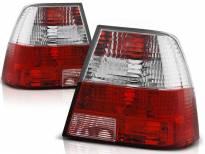 Комплект тунинг стопове за Volkswagen BORA 09.1998-07.2005 седан с червена и бяла основа , ляв и десен