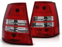 Комплект тунинг стопове за Volkswagen GOLF 4 / BORA 1999-2006 комби с червена и бяла основа , ляв и десен