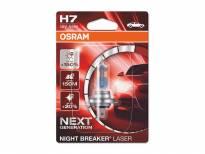 Халогенна крушка Osram H7 Night Breaker Laser +150% 12V, 55W, PX26D, 1500lm, 1 брой в блистер