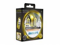 Комплект 2 броя халогенни крушки Philips H4 Color Vision12V, 60/55W, P43T-38, Жълти