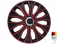 "Декоративни тасове PETEX 16"" Voltec pro black/red, 4 броя"