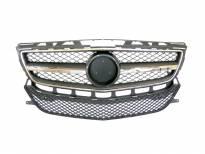 Хром/черна решетка тип AMG за Mercedes CLS 6.3 AMG W218 2011-2014 с отвори за парктроник