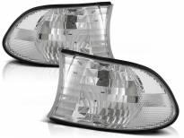 Комплект тунинг мигачи към фара за BMW серия 7 E38 1998-2001 с хром основа ляв + десен