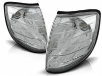 Комплект тунинг мигачи към фара за Mercedes S класа W140 1991-1998 с хром основа ляв + десен