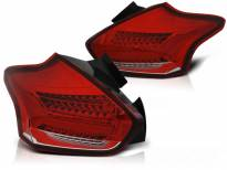 Тунинг LED стопове за Ford Focus III хечбек след 2015 година червено/бели