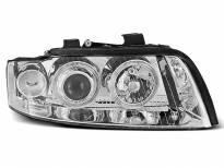Тунинг фарове с халогенни ангелски очи за Audi A4 B6 10.2000-10.2004 седан/комби
