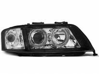 Тунинг фарове с халогенни ангелски очи за Audi A6 C5 06.2001-05.2004 седан/комби