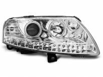 Тунинг фарове с CCFL ангелски очи и LED лента за Audi A6 C6 04.2004-2008 седан/комби