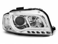 Тунинг фарове с истински DRL светлини за Audi A3 8P 05.2003-03.2008 3D/5D