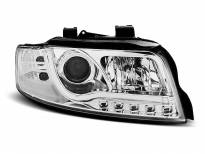 Тунинг фарове с истински DRL светлини за Audi A4 B6 10.2000-10.2004 седан/комби