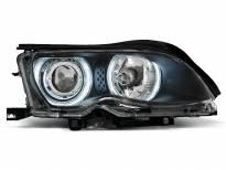 Тунинг фарове с CCFL ангелски очи за BMW 3 E46 09.2001-03.2005 седан/комби
