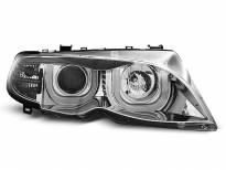 Тунинг фарове с 3D LED ангелски очи за BMW 3 E46 09.2001-03.2005 седан/комби