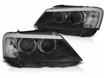 Тунинг фарове за BMW X3 F25 2010-07.2014с черна основа
