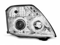Тунинг фарове с халогенни ангелски очи за Citroen C2 09.2003-2010