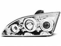 Тунинг фарове с халогенни ангелски очи за Ford FOCUS MK2 09.2004-01.2008