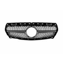 Хром/сива диамантена решетка за Mercedes CLA C117 2013-2016 без отвор за камера