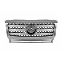 Хром/сива решетка с три лъча за Mercedes G класа W463 1990-2018