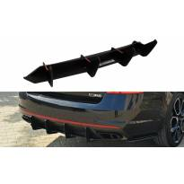 Добавка Maxton Design за дифузьор тип RS на Skoda Octavia mk3 RS 2013-2019 хечбек, комби, черен мат