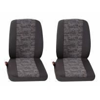 Тапицерия за седалки Petex Eco-Class модел Profi 3 за две единични седалки, сива с цветни орнаменти