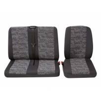 Тапицерия за седалки Petex Eco-Class модел Profi 3 за единична + двойна седалки, сива с цветни орнаменти
