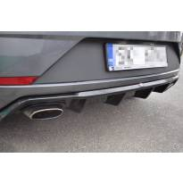 Дифузьор Maxton Design за задна Cupra броня за Seat Leon хечбек 2017-2020, черен лак