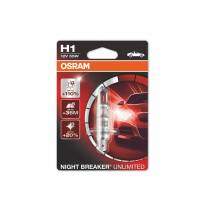 Халогенна крушка Osram H1 Night Breaker Unlimited 12V, P14.5s, 55W, 1 брой