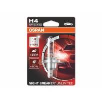 Халогенна крушка Osram H4 Night Breaker Unlimited 12V, 60/55W, P43t, 1 брой