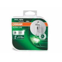 Комплект 2 броя халогенни крушки Osram H4 UltraLife 12V, 60/55W, P43t