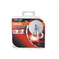 Комплект 2 броя халогенни крушки Osram H8 Night Breaker Unlimited 12V, 35W, PGJ19-1