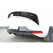Дифузьор Maxton Design за задна тунинг броня на Seat Leon III FR 2012-2016, черен лак