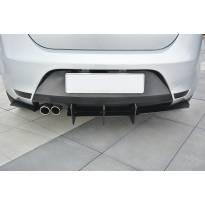 Добавка Maxton Design версия 2 за дифузьор на задна тунинг броня за Seat Leon Mk2 Cupra, FR 2005-2012, черен мат