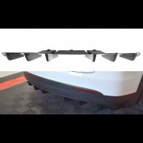 Добавка за дифузьор за Tesla Model X след 2015 година, визия карбон