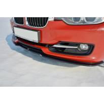 Спойлер Maxton Design версия 1 за стандартна предна броня на BMW серия 3 F30 2011-2015, черен лак