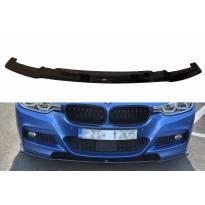 Спойлер Maxton Design за предна M Technik броня на BMW серия 3 F30 седан 2015-2018, черен лак