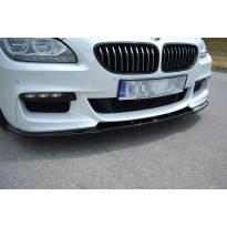 Спойлер Maxton Design за предна M Technik броня на BMW серия 6 Gran Coupe F06 след 2013 година, черен мат