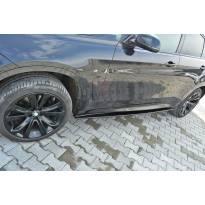 Добавки Maxton Design тип M Technik за прагове на BMW X6 F16 след 2014 година, черен лак